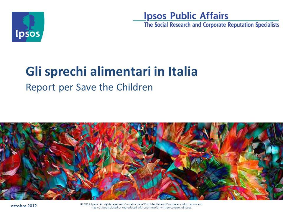 Gli sprechi alimentari in Italia