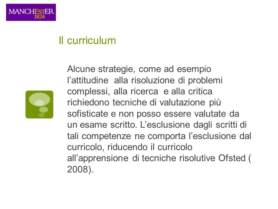 Il curriculum