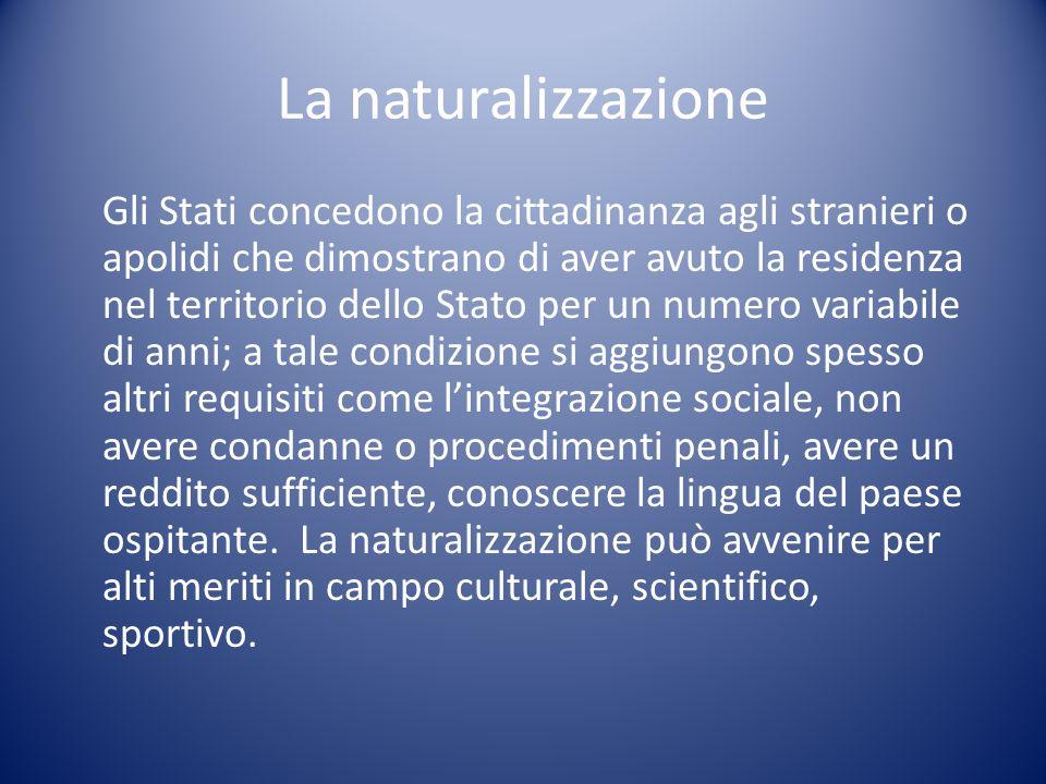 La naturalizzazione