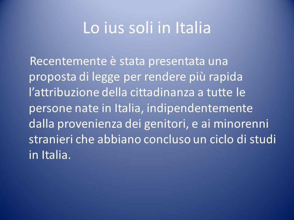 Lo ius soli in Italia