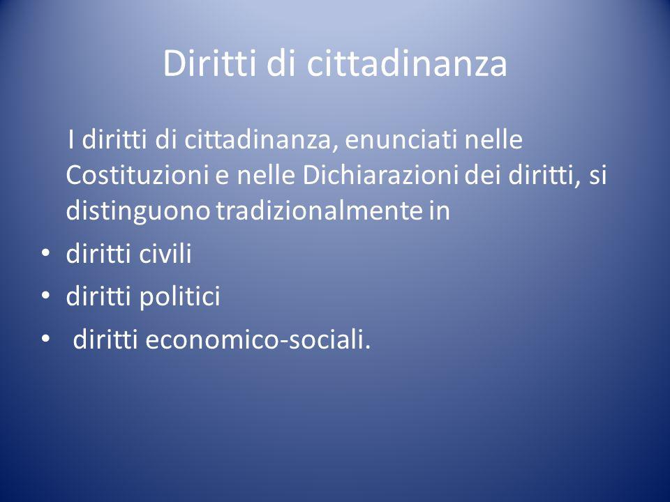 Diritti di cittadinanza
