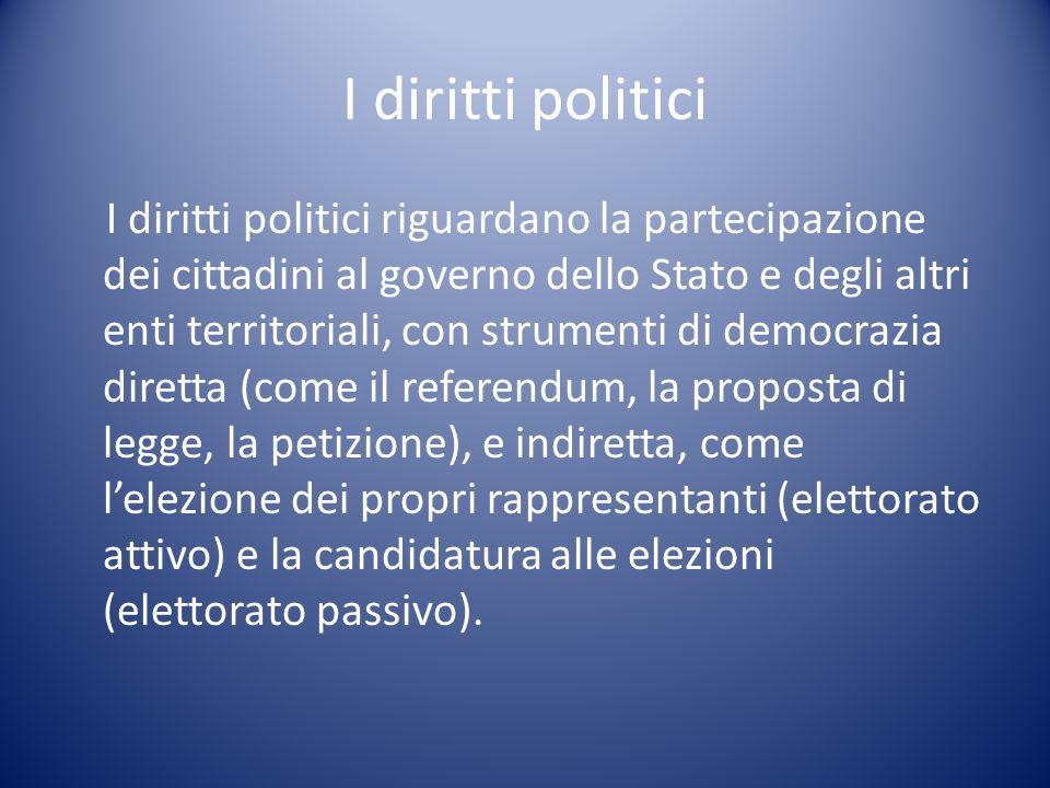 I diritti politici