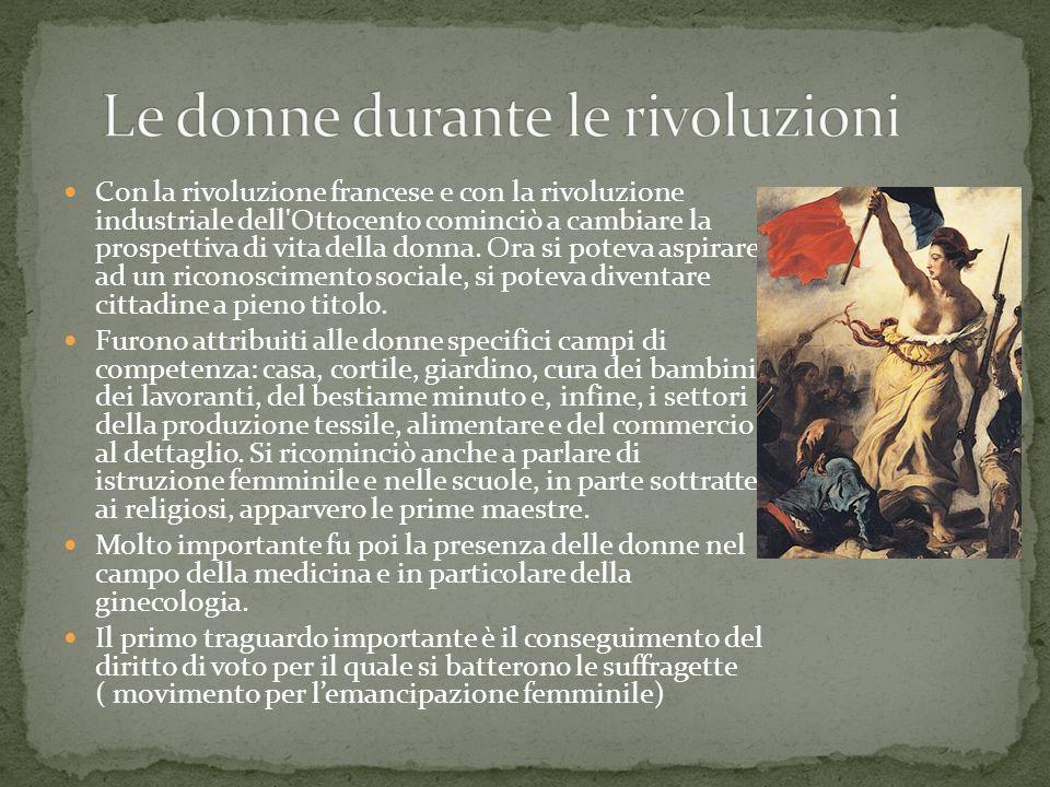 Le donne durante le rivoluzioni