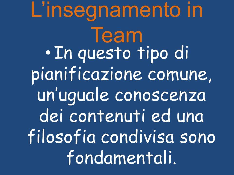 L'insegnamento in Team