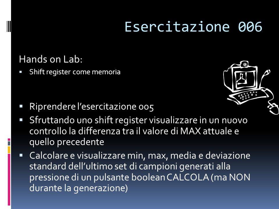 Esercitazione 006 Hands on Lab: Riprendere l'esercitazione 005