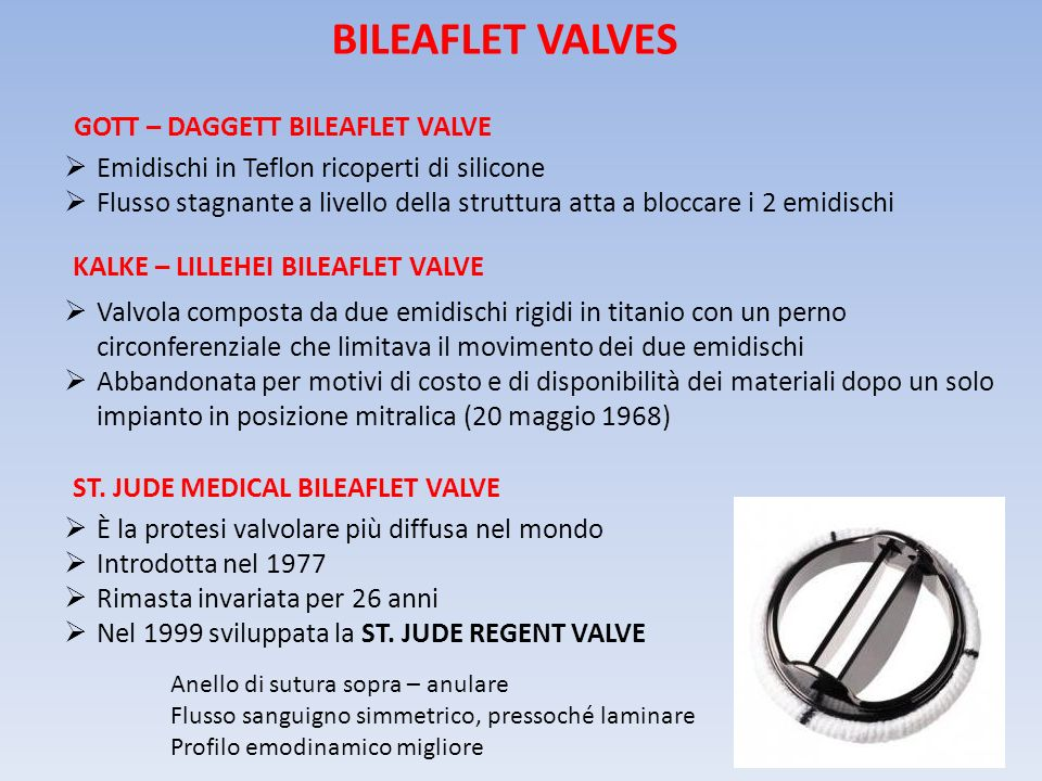 BILEAFLET VALVES Gott – Daggett Bileaflet Valve