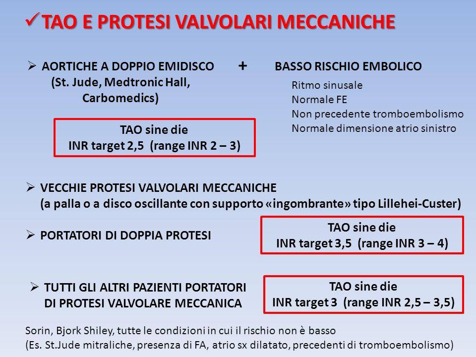 TAO E PROTESI VALVOLARI MECCANICHE