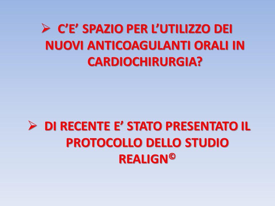 DI RECENTE E' STATO PRESENTATO IL PROTOCOLLO DELLO STUDIO REALIGN©