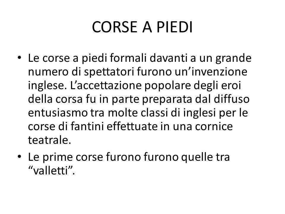 CORSE A PIEDI