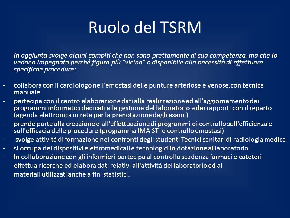 Ruolo del TSRM