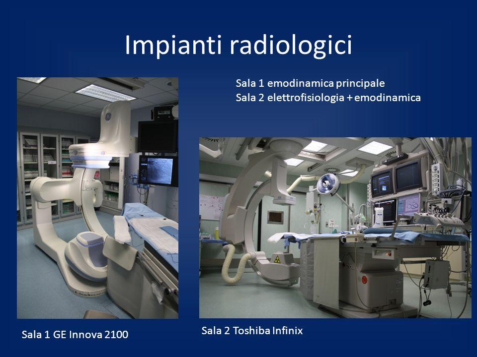 Impianti radiologici Sala 1 emodinamica principale