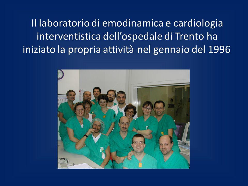 Il laboratorio di emodinamica e cardiologia interventistica dell'ospedale di Trento ha iniziato la propria attività nel gennaio del 1996