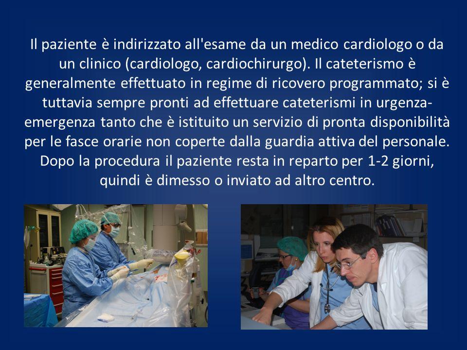 Il paziente è indirizzato all esame da un medico cardiologo o da un clinico (cardiologo, cardiochirurgo).