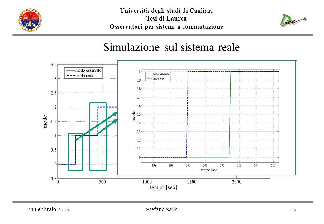 Simulazione sul sistema reale