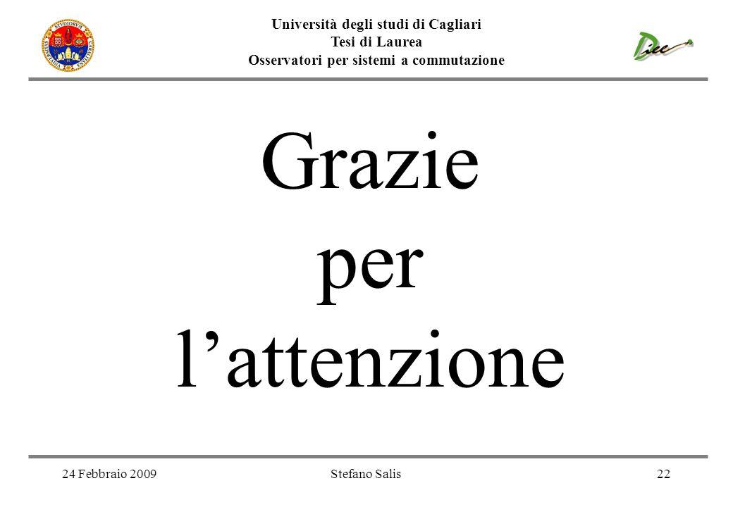 Grazie per l'attenzione Università degli studi di Cagliari