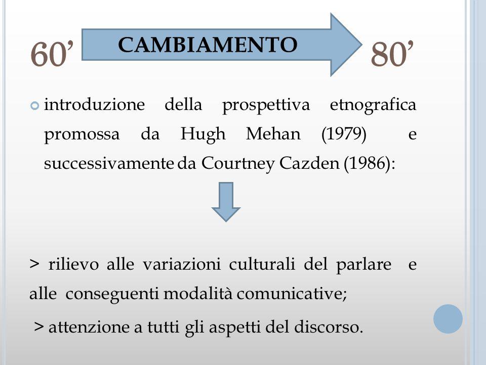 60' 80' 60' 80' CAMBIAMENTO.