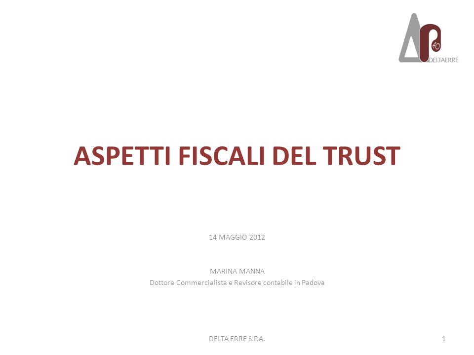 ASPETTI FISCALI DEL TRUST