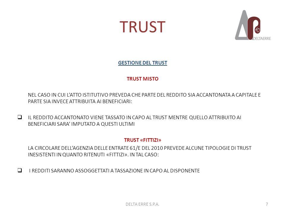 TRUST GESTIONE DEL TRUST TRUST MISTO