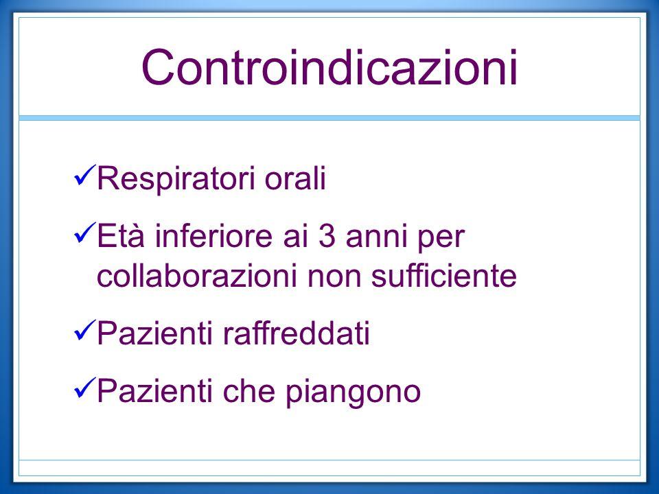 Controindicazioni Respiratori orali