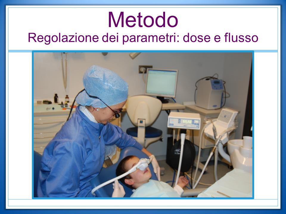 Regolazione dei parametri: dose e flusso