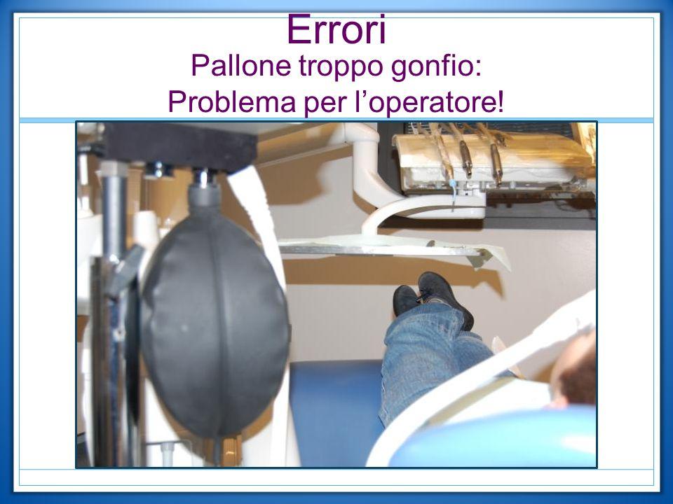 Errori Pallone troppo gonfio: Problema per l'operatore!