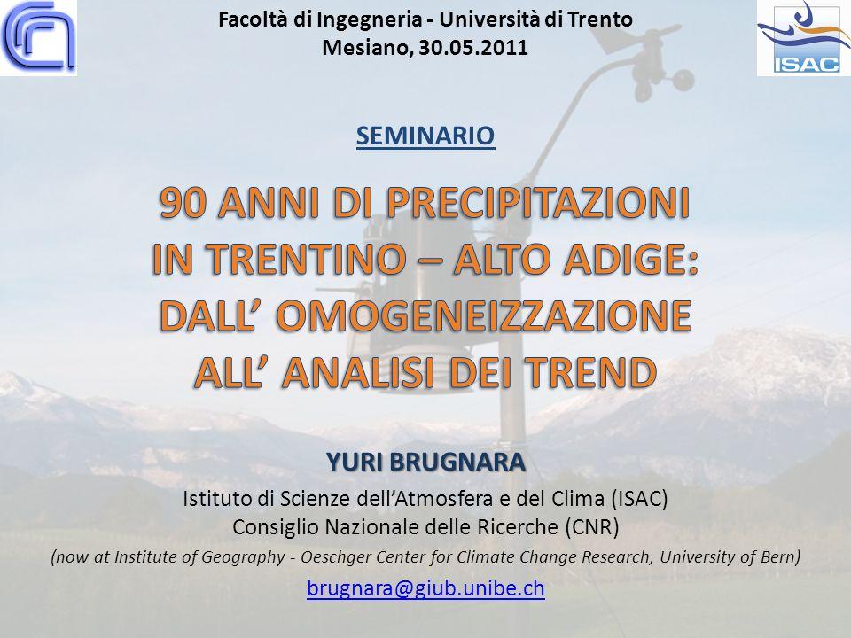 Facoltà di Ingegneria - Università di Trento