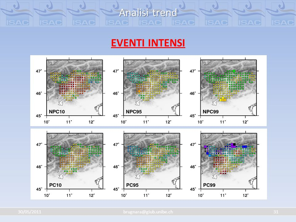 Analisi trend EVENTI INTENSI 30/05/2011 brugnara@giub.unibe.ch