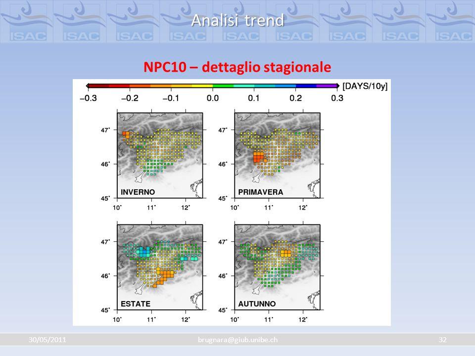 NPC10 – dettaglio stagionale