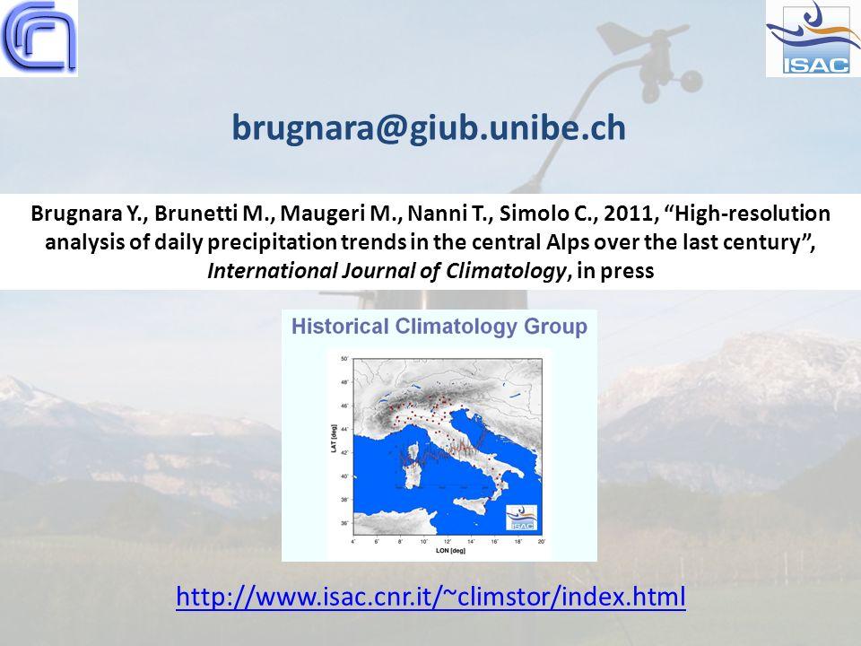 brugnara@giub.unibe.ch http://www.isac.cnr.it/~climstor/index.html