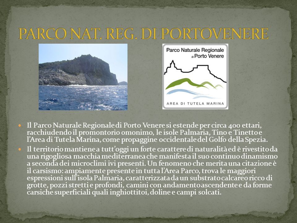 PARCO NAT. REG. DI PORTOVENERE