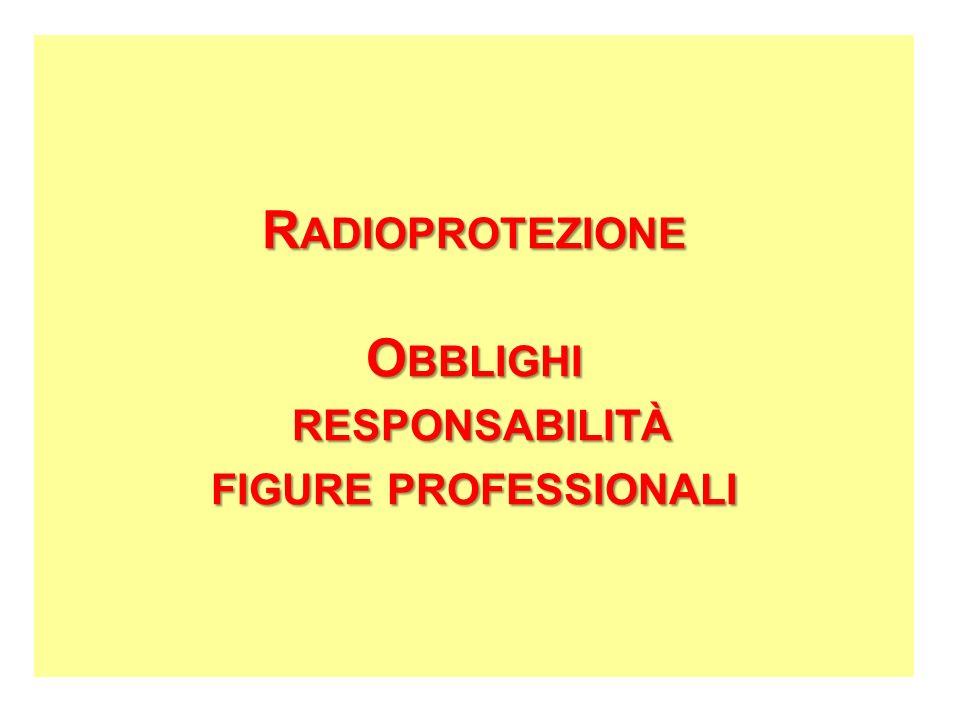 Radioprotezione Obblighi responsabilità figure professionali