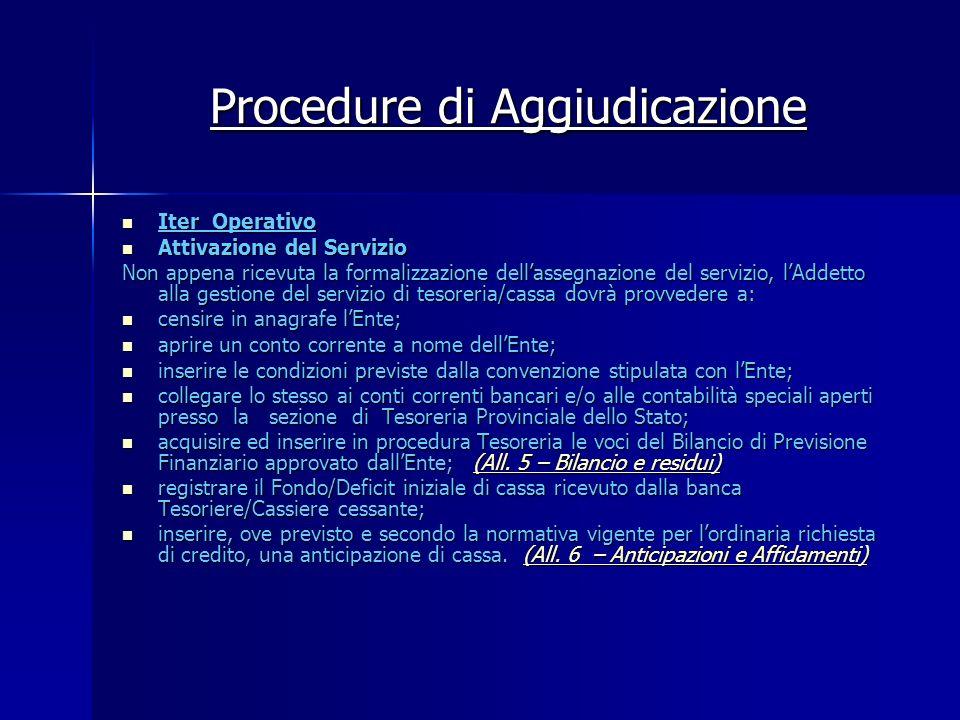 Procedure di Aggiudicazione