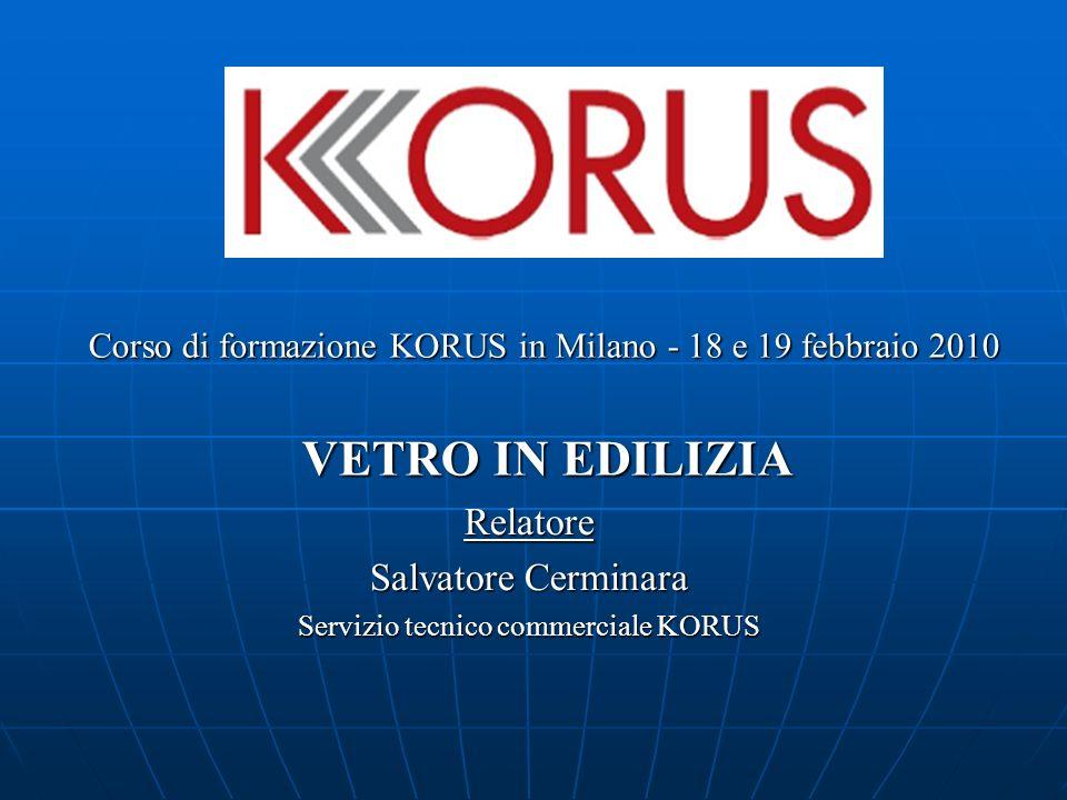 Relatore Salvatore Cerminara Servizio tecnico commerciale KORUS