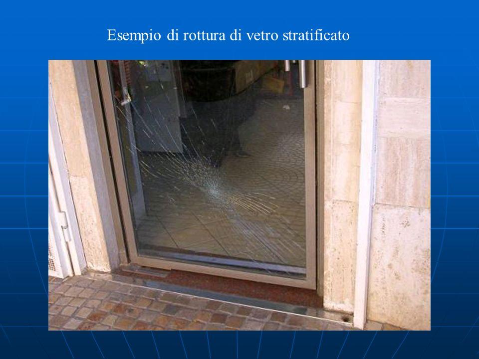 Esempio di rottura di vetro stratificato