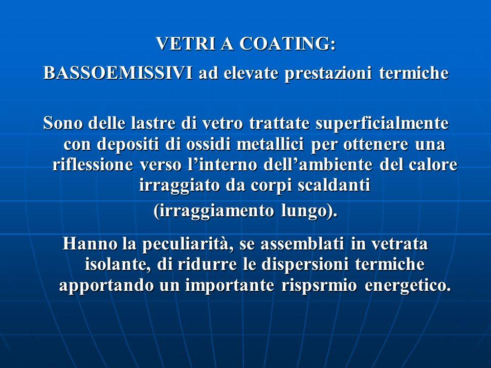 BASSOEMISSIVI ad elevate prestazioni termiche (irraggiamento lungo).