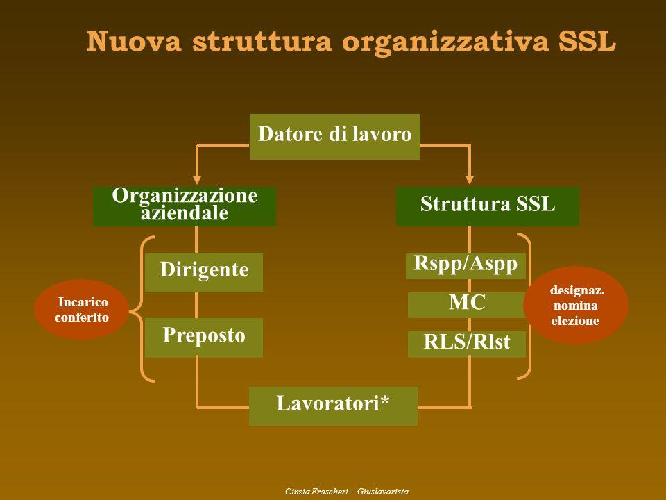 Nuova struttura organizzativa SSL