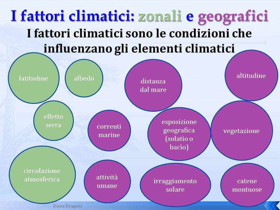 I fattori climatici: zonali e geografici