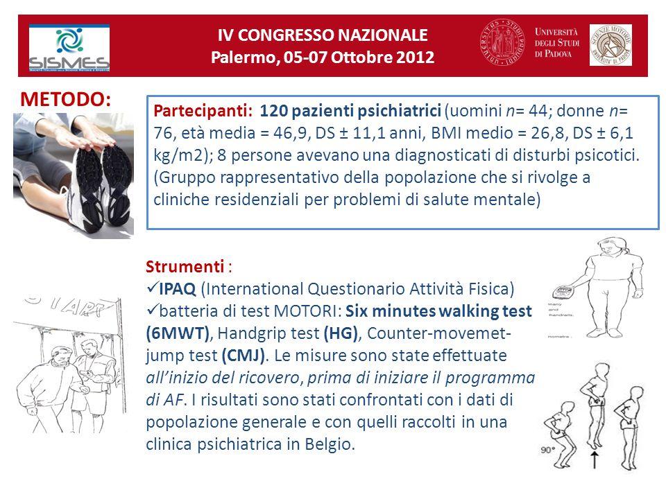 IV CONGRESSO NAZIONALE Palermo, 05-07 Ottobre 2012