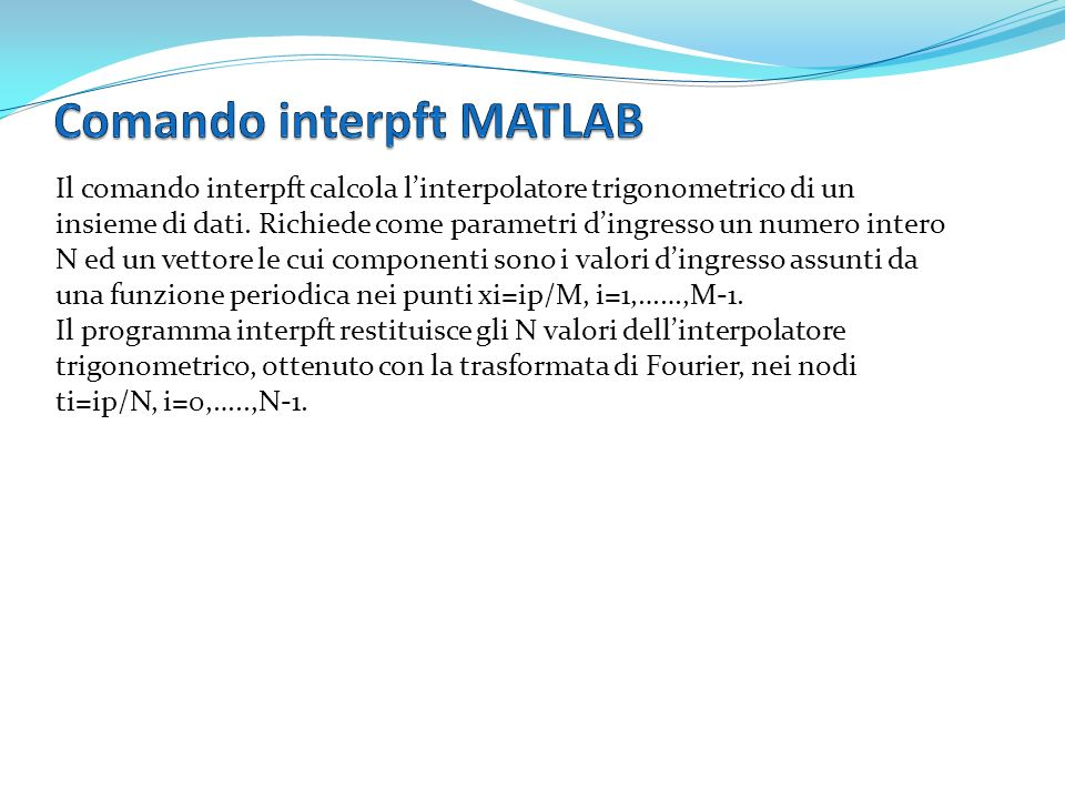 Comando interpft MATLAB