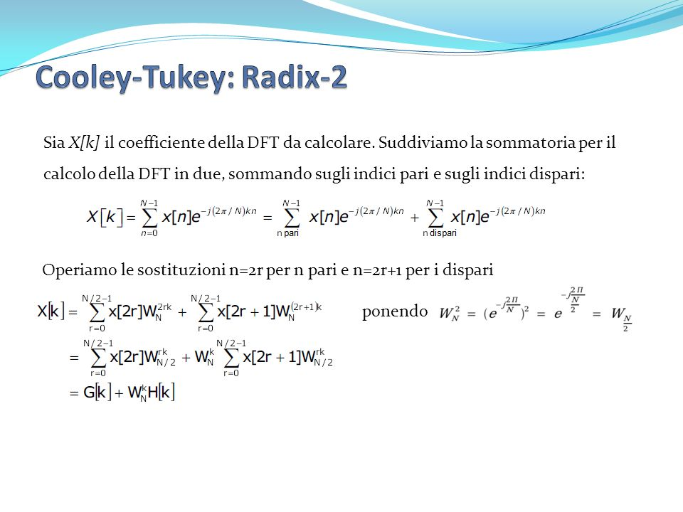 Cooley-Tukey: Radix-2