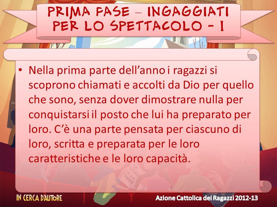 PRIMA FASE – INGAGGIATI PER LO SPETTACOLO - 1
