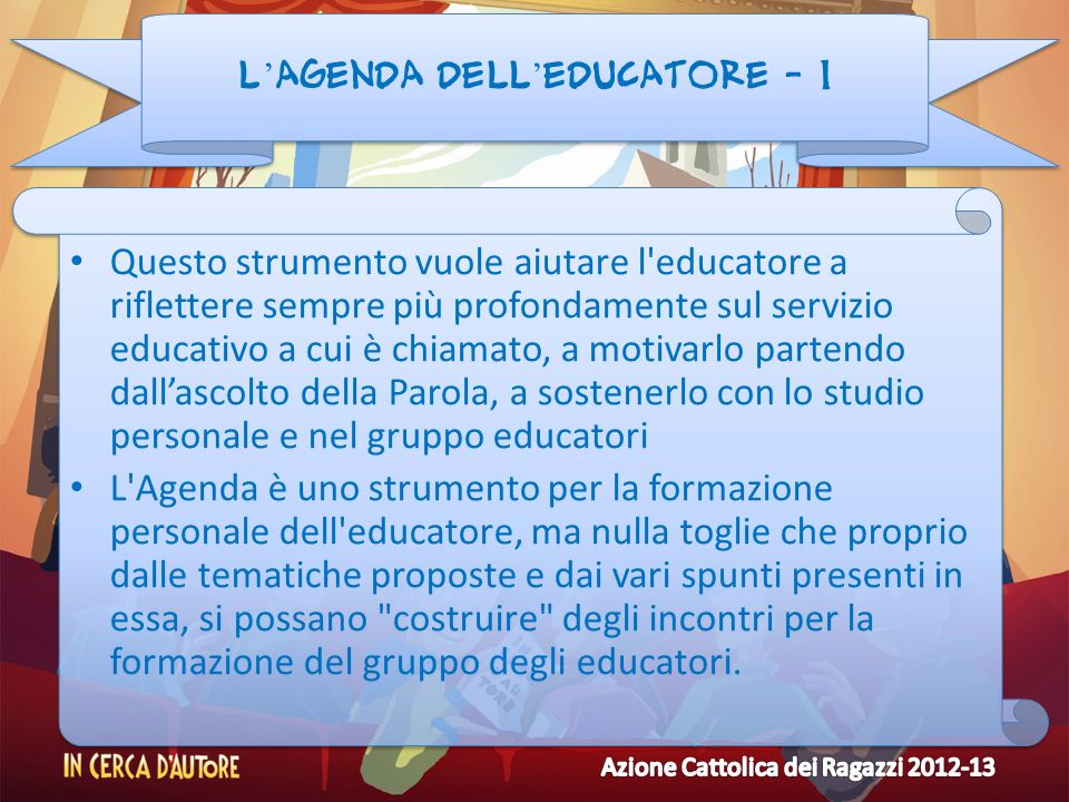 L'agenda dell'educatore - 1