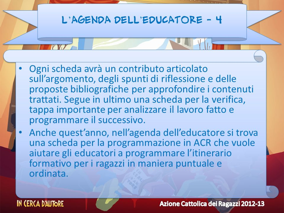 L'agenda dell'educatore - 4