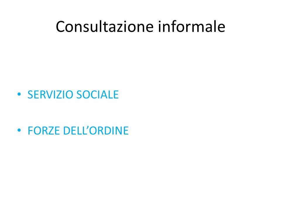 Consultazione informale