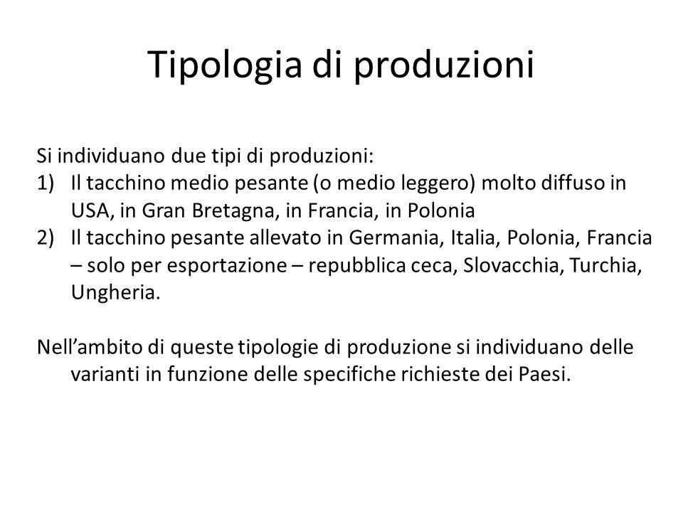 Tipologia di produzioni