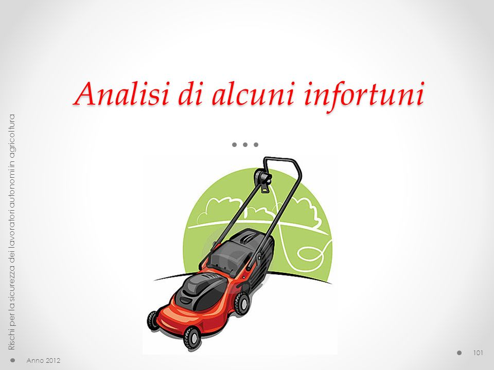 Analisi di alcuni infortuni