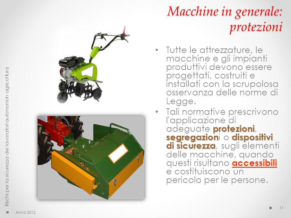 Macchine in generale: protezioni
