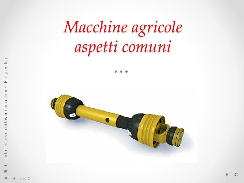 Macchine agricole aspetti comuni