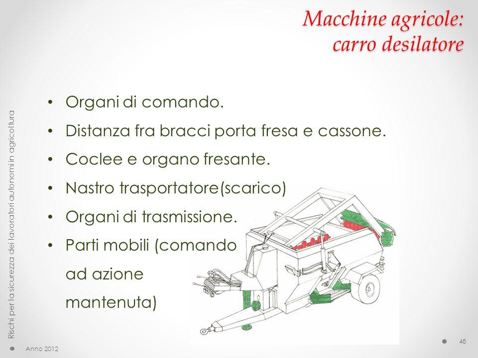 Macchine agricole: carro desilatore