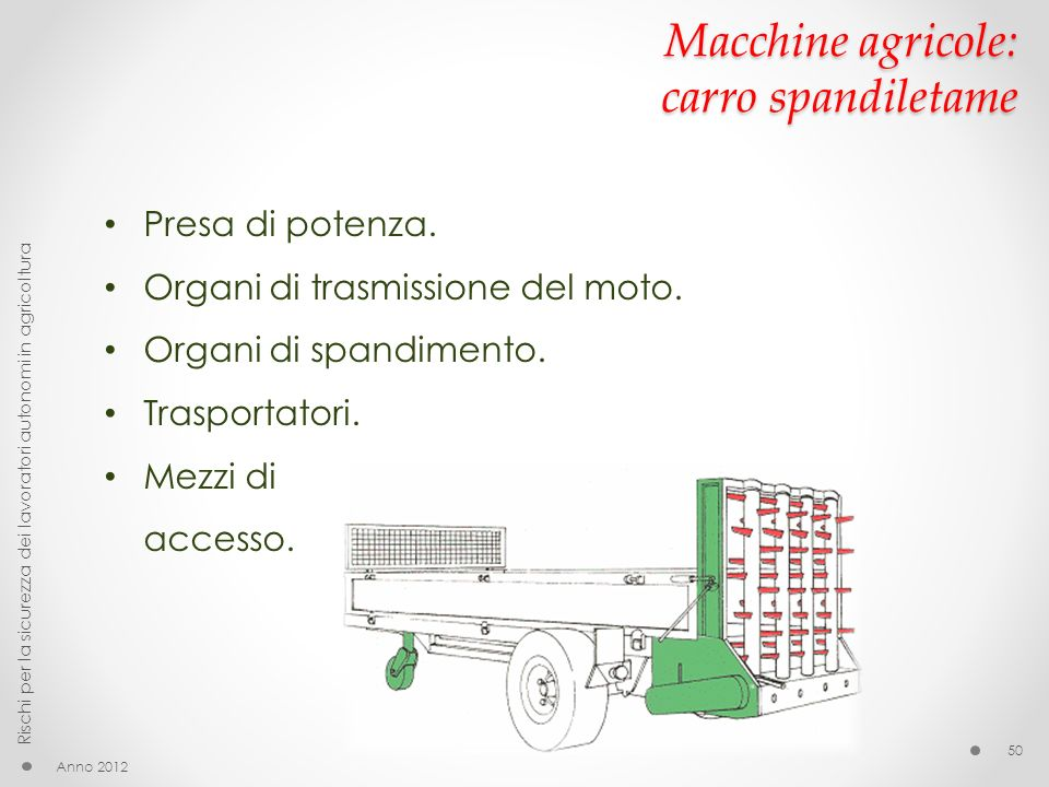 Macchine agricole: carro spandiletame